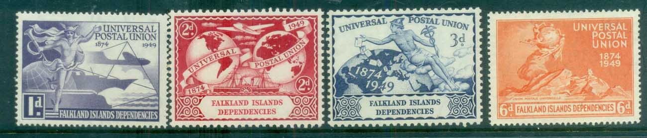 Falkland Is Deps 1949 UPU MUH lot77947