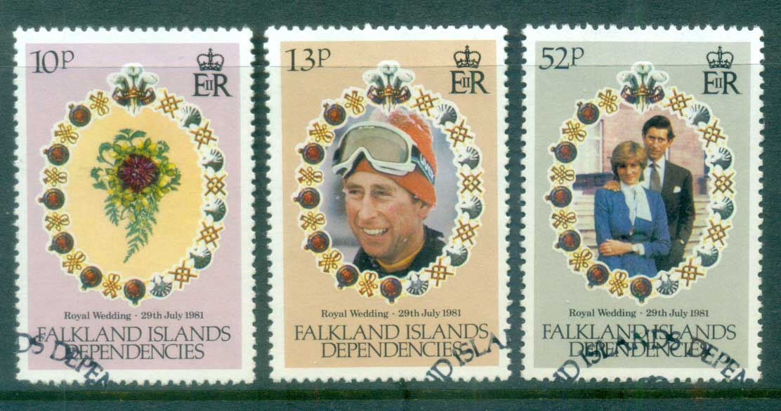 Falkland Is Deps 1981 Charles & Diana Wedding FU lot77961