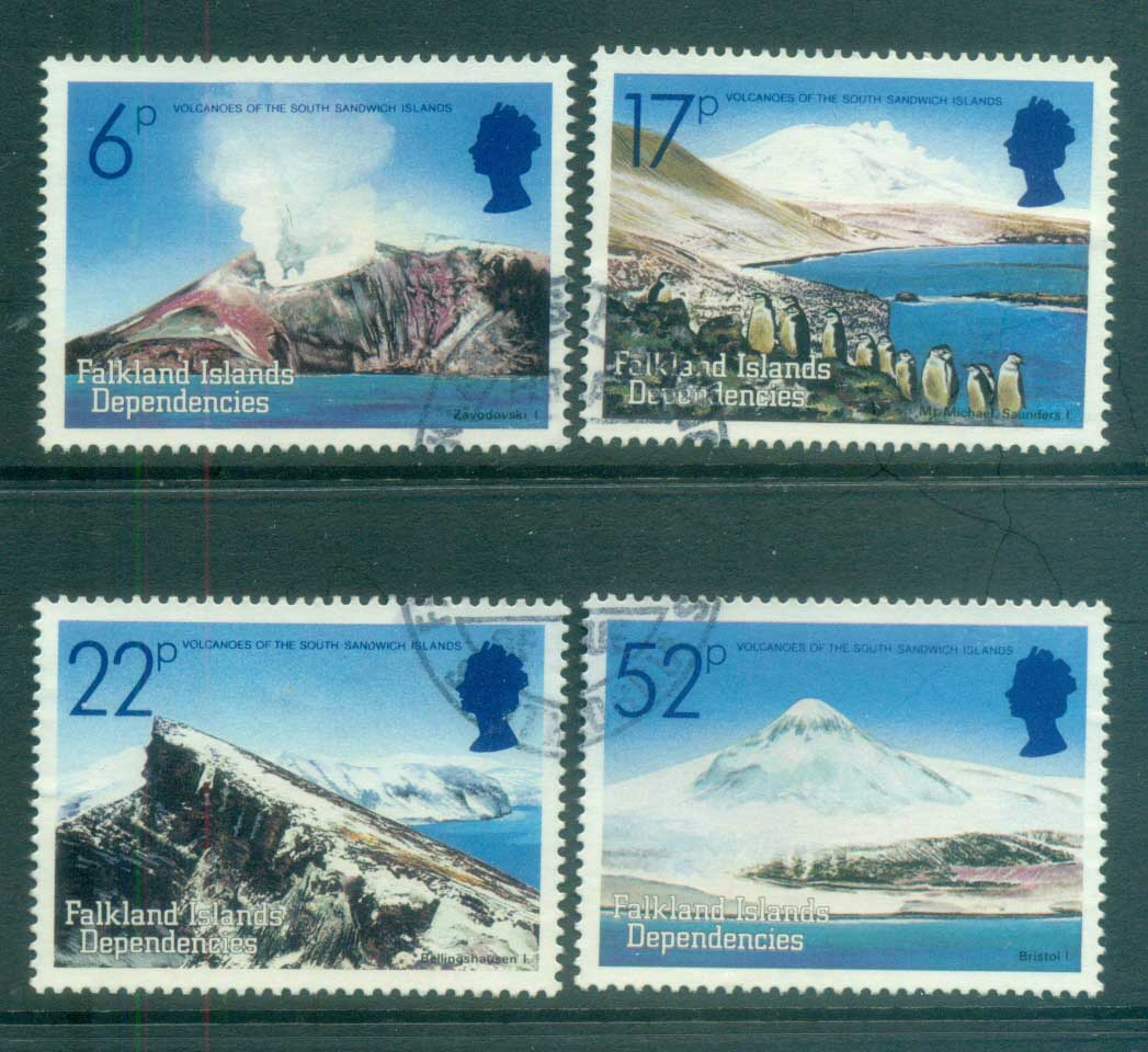 Falkland Is Deps 1984 Volcanoes FU lot77968