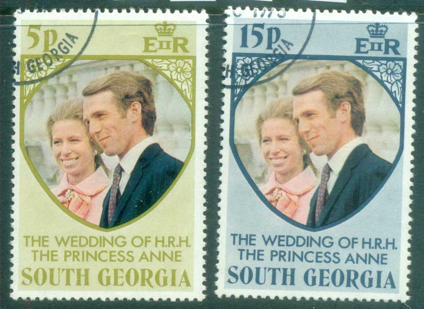 South Georgia 1973 Princess Anne Royal Wedding FU lot77978