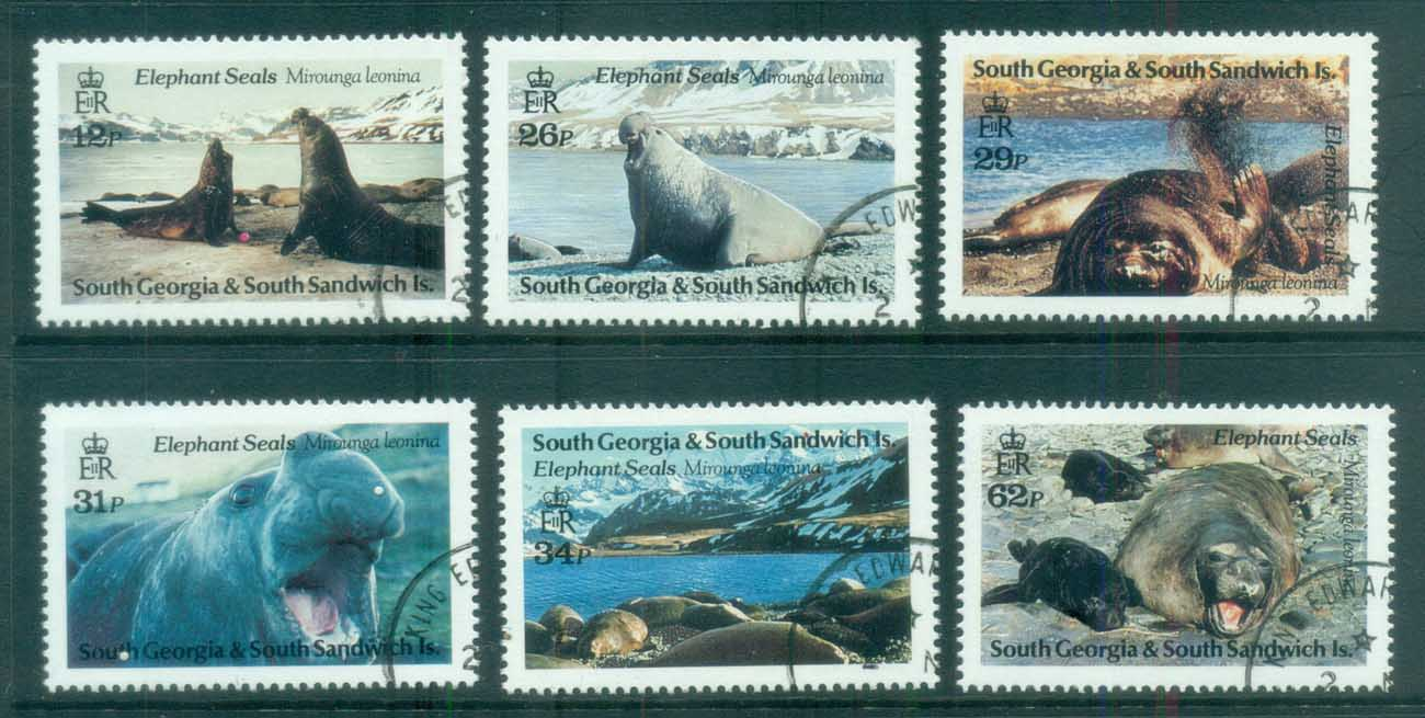 South Georgia 1991 Elephant Seals FU lot78008
