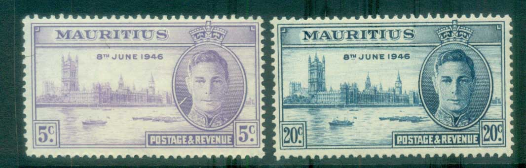 Mauritius 1946 Victory MLH lot78073