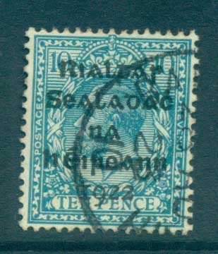 Ireland 1922 10d turquoise Provisional Opt. Blk Dollard FU lot78377