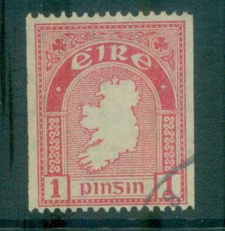 Ireland 1922-23 1d Map of Ireland Coil(suspect cancel) FU lot78547
