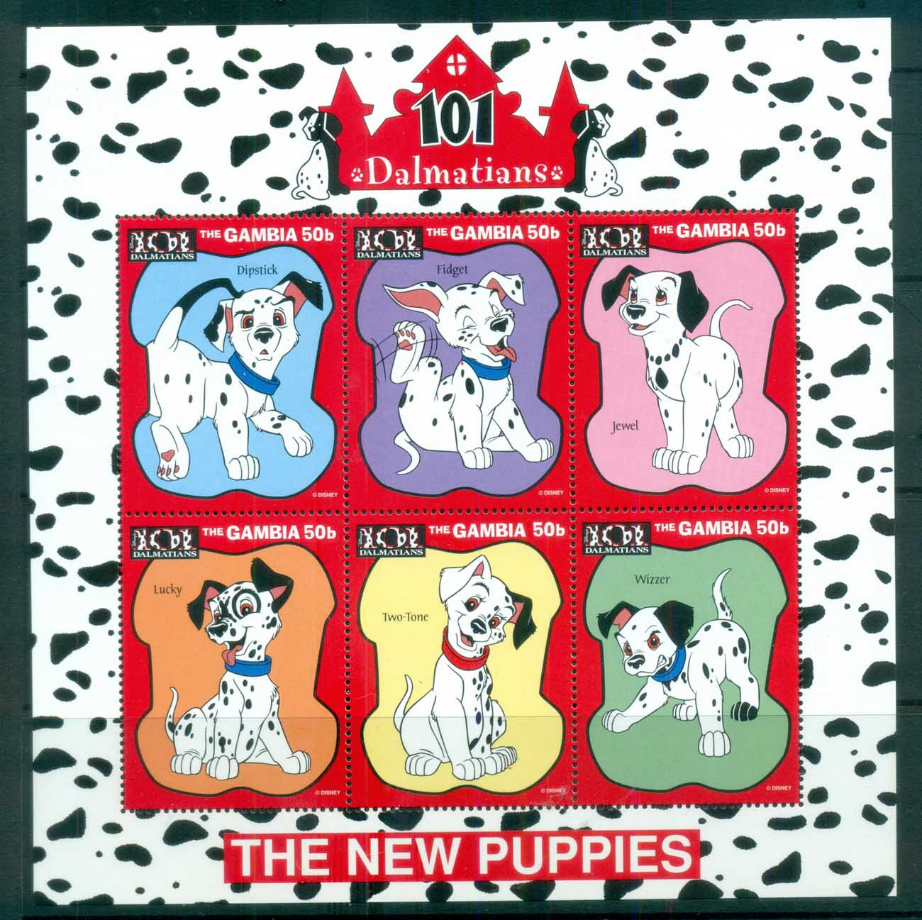 Gambia 1997 Disney, 101 Dalmations, The New Puppies, sheetlet MUH lot78958