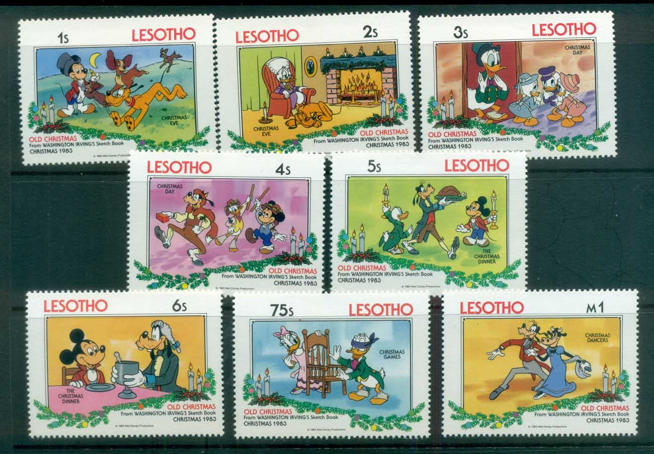 Lesotho 1983 Disney, Disney's old Christmas MUH lot78975