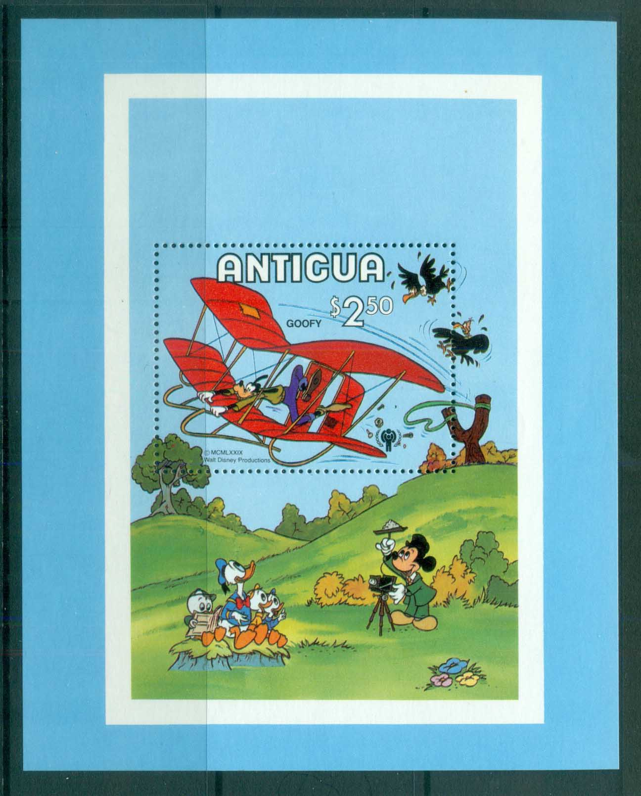 Antigua 1980 Disney, Goofy in Glider MS MUH lot79033
