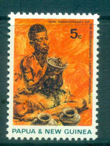PNG 1969 ILO Potter MUH lot79074