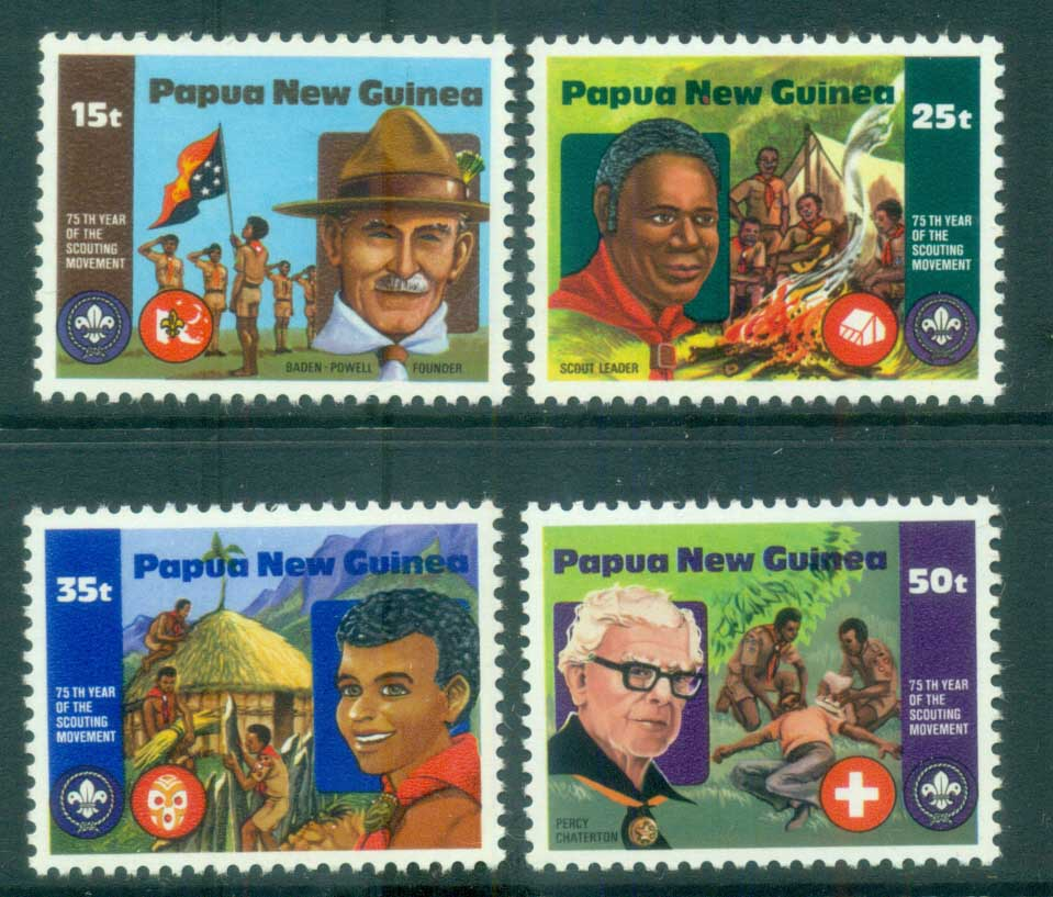 PNG 1982 Boy Scouts MUH lot79103