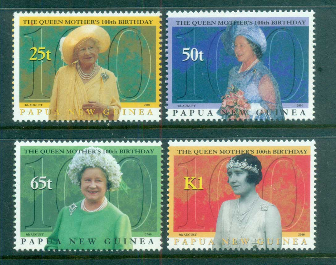 PNG 2000 Queen Mother 100th Birthday MUH lot79135