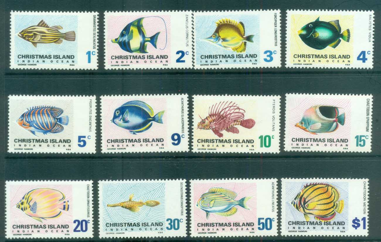 Christmas Is 1968-70 Fish Defins MUH lot79138