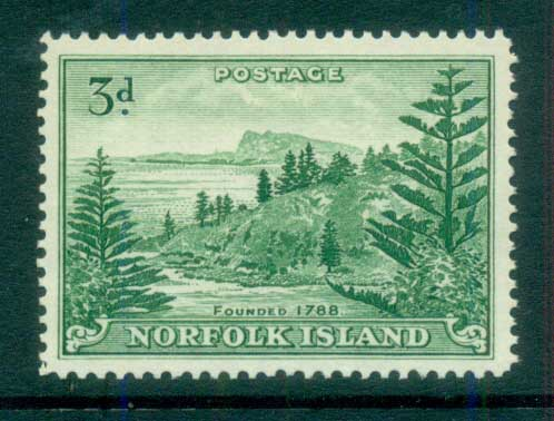 Norfolk Is 1959 Ball Bay 3d MUH lot79159