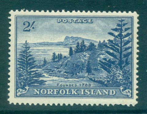 Norfolk Is 1959 Ball Bay 2/- MUH lot79160