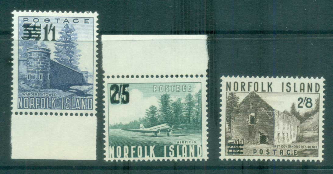 Norfolk Is 1960 Surcharges MUH lot79163