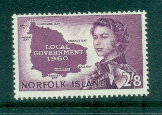 Norfolk Is 1960 Local Govt. Map MH lot79164