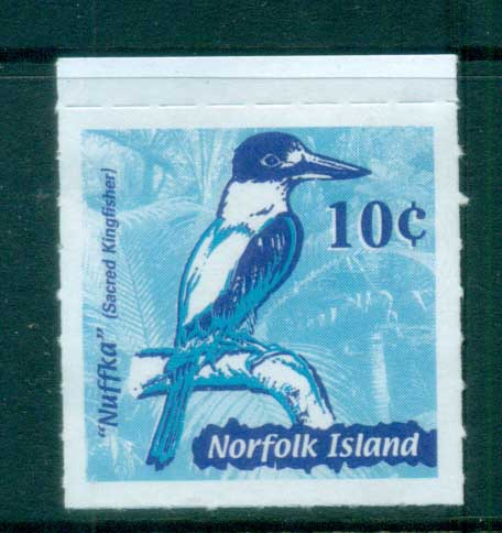 Norfolk Is 2002 Nuffka Kingfisher ex booklet MUH lot79172