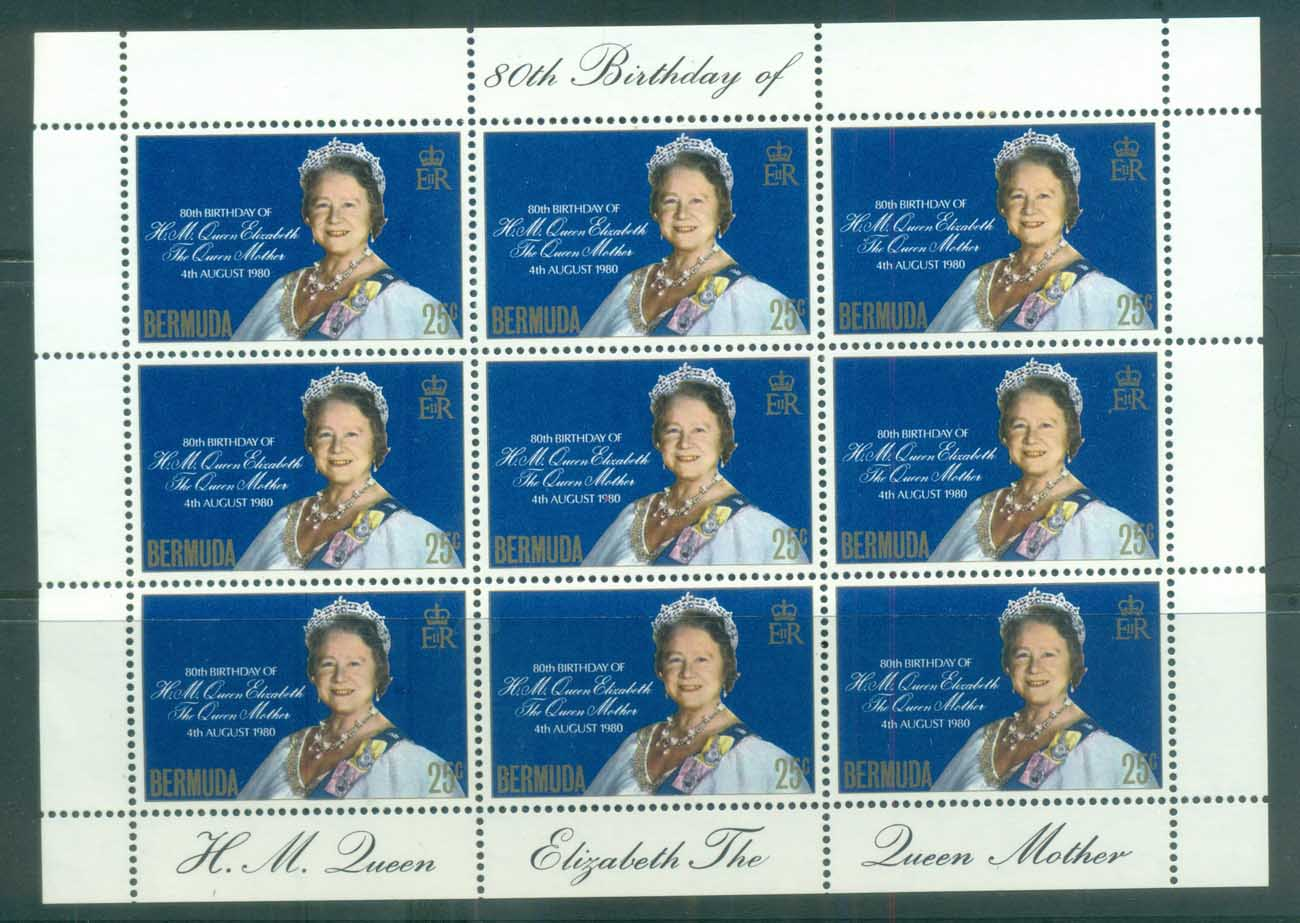 Bermuda 1980 Queen Mother 80th Birthday sheetlet MUH lot79232
