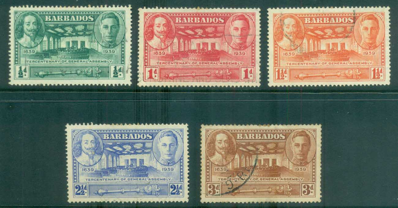 Barbados 1938 Tercentenary of General Assembly FU lot79269