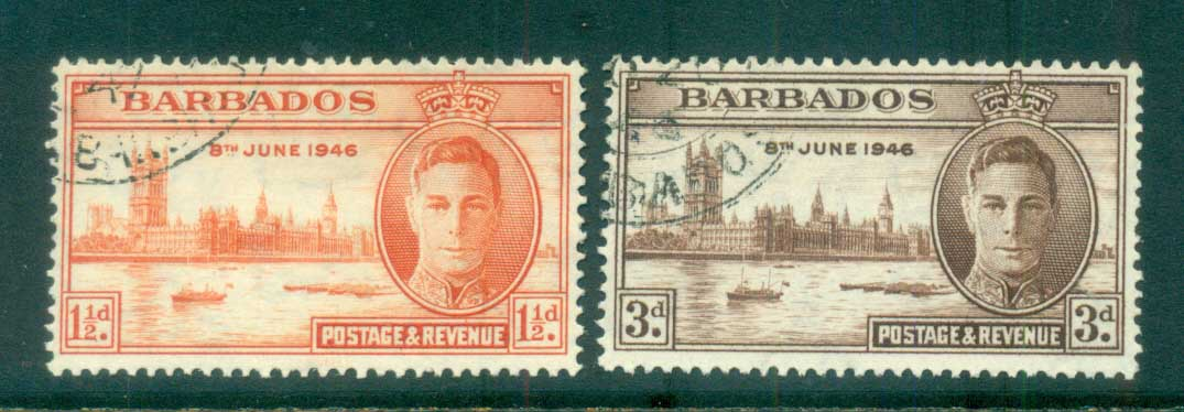Barbados 1946 Victory FU lot79270