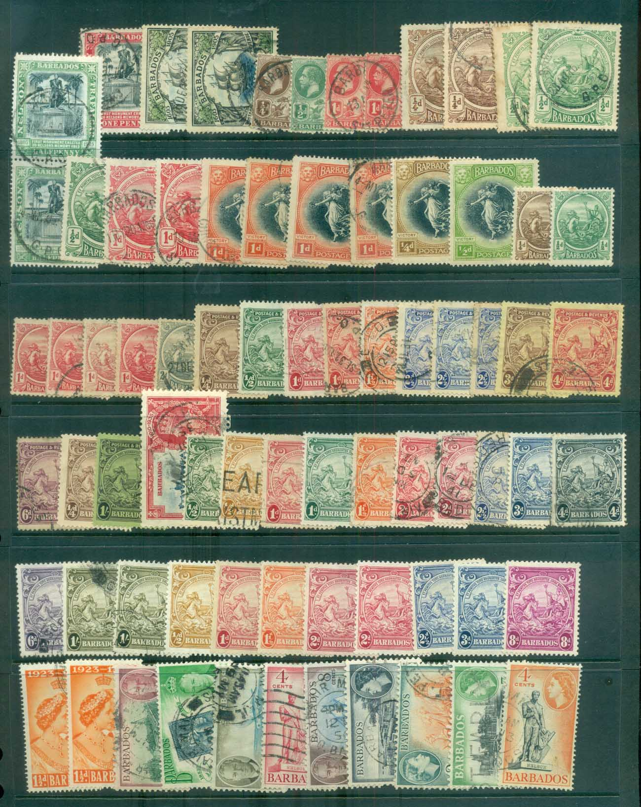 Barbados 1930s on Assorted Oddments, 2 scans MLH/FU lot79273