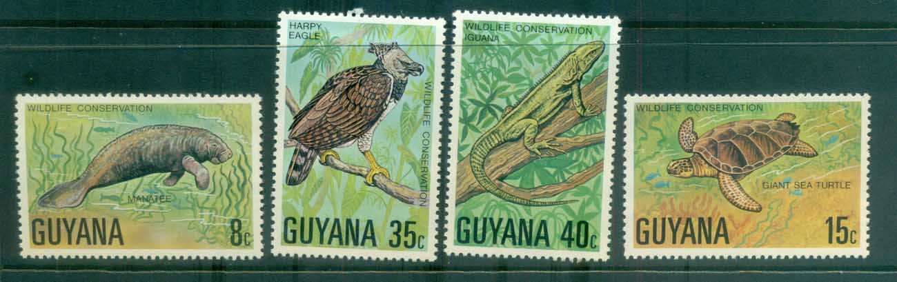 Guyana 1978 Wildlife Protection MLH lot79376