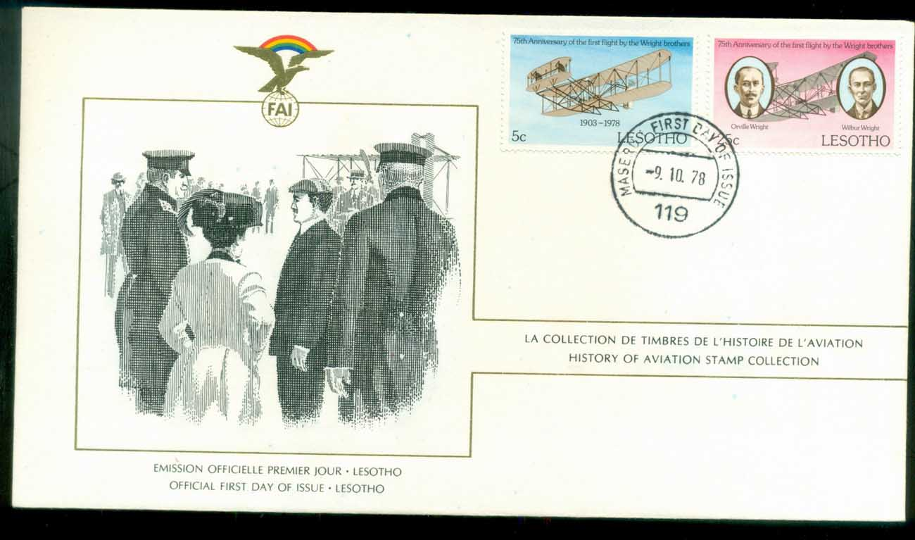Lesotho 1978 History of Aviation, FAI FDC lot79556