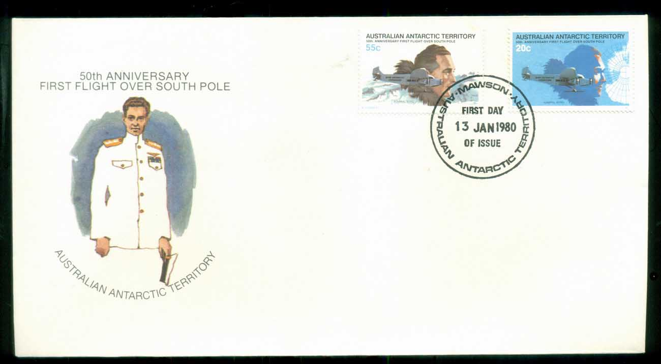 AAT 1980 First Flight, Mawson FDC lot79692 - Click Image to Close