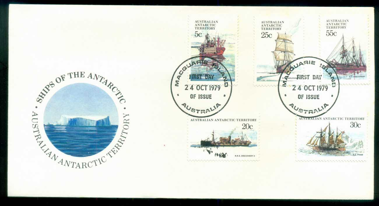 AAT 1980 Ships I, Macquarie Is FDC lot79702