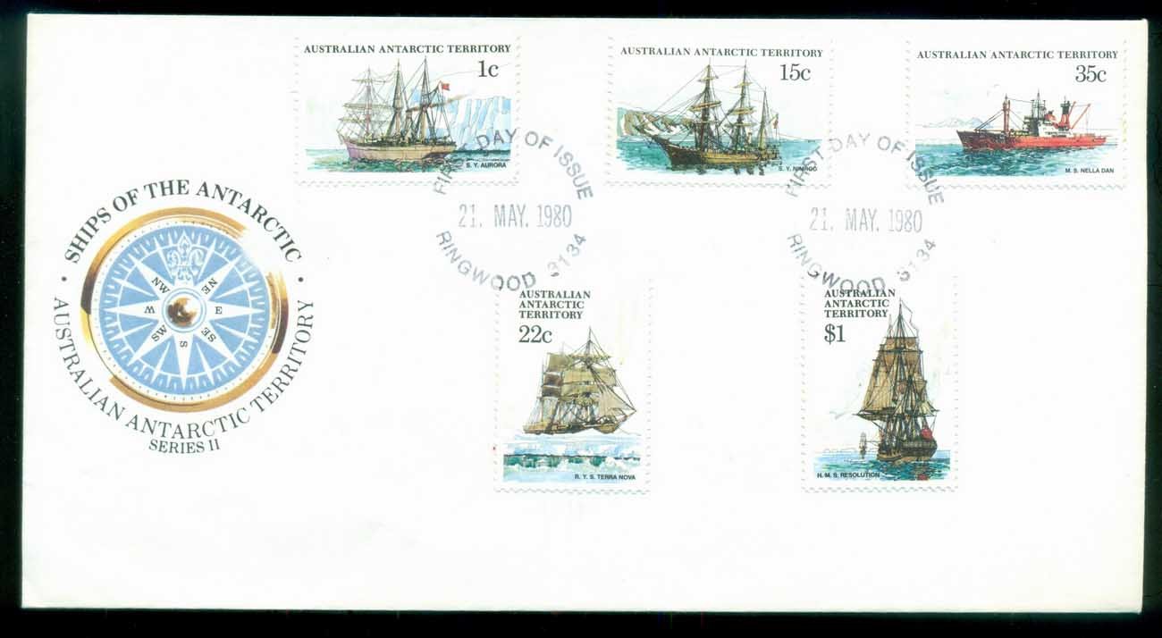 AAT 1980 Ships I, Ringwood Vic FDC lot79706