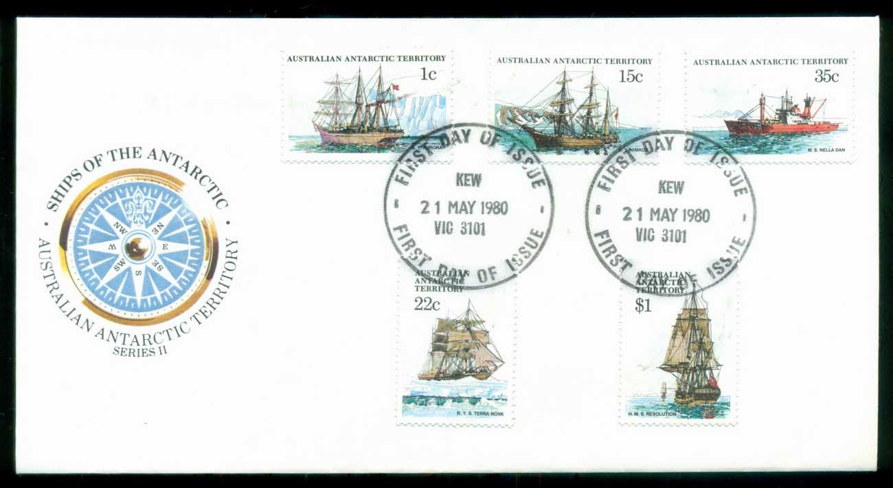 AAT 1980 Ships I, Kew Vic FDC lot79707