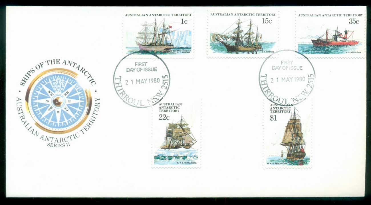 AAT 1980 Ships I, Thirroul NSW FDC lot79708