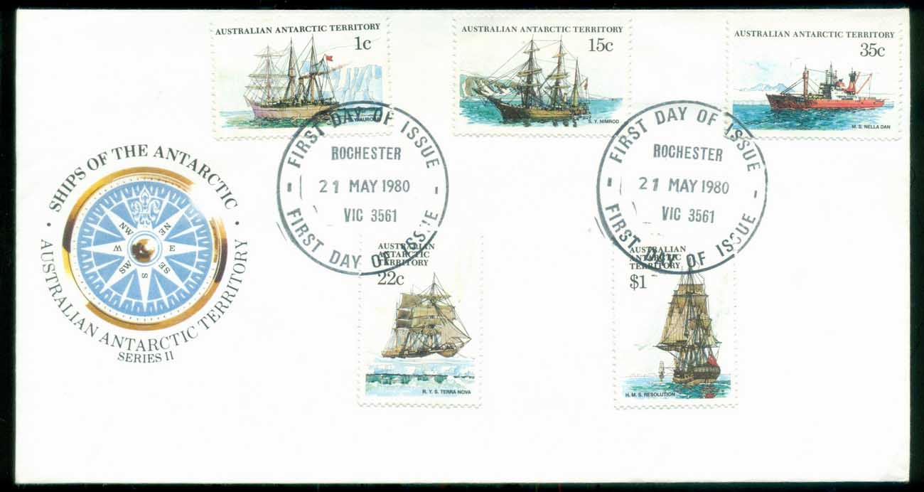 AAT 1980 Ships I, Rochester Vic FDC lot79711