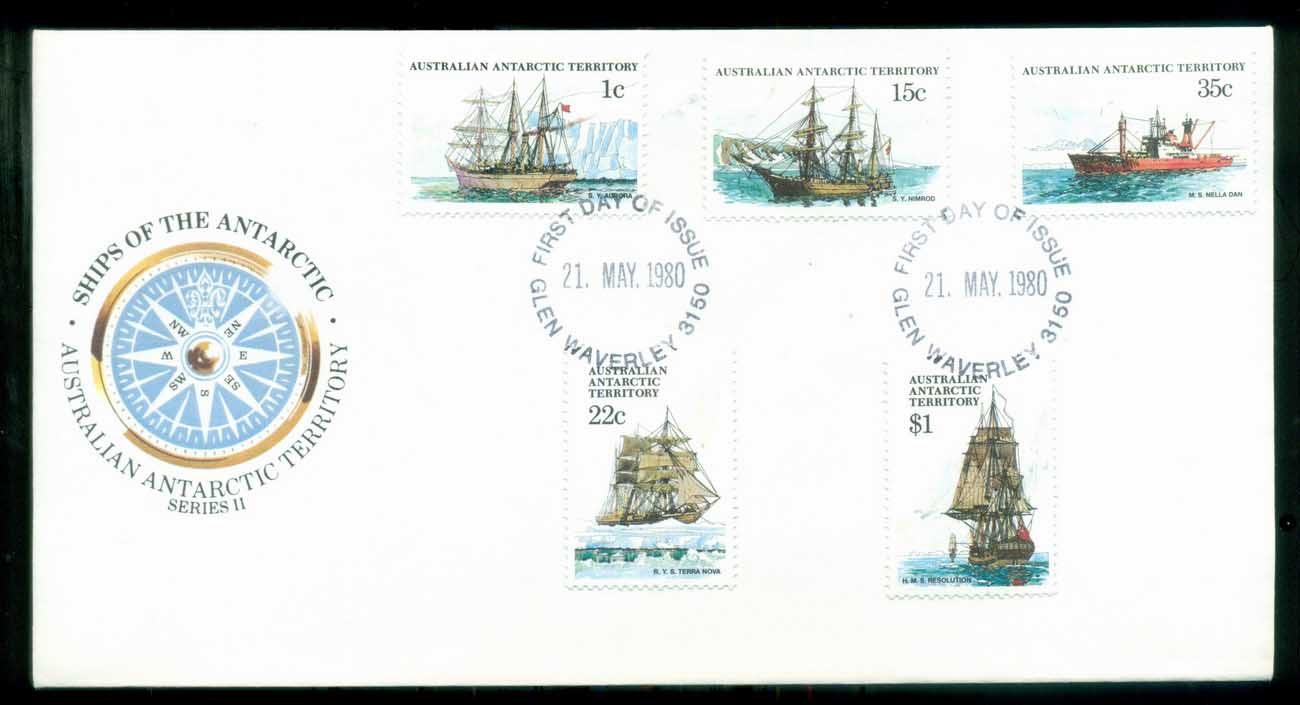 AAT 1980 Ships I, Glen Waverley Vic FDC lot79715