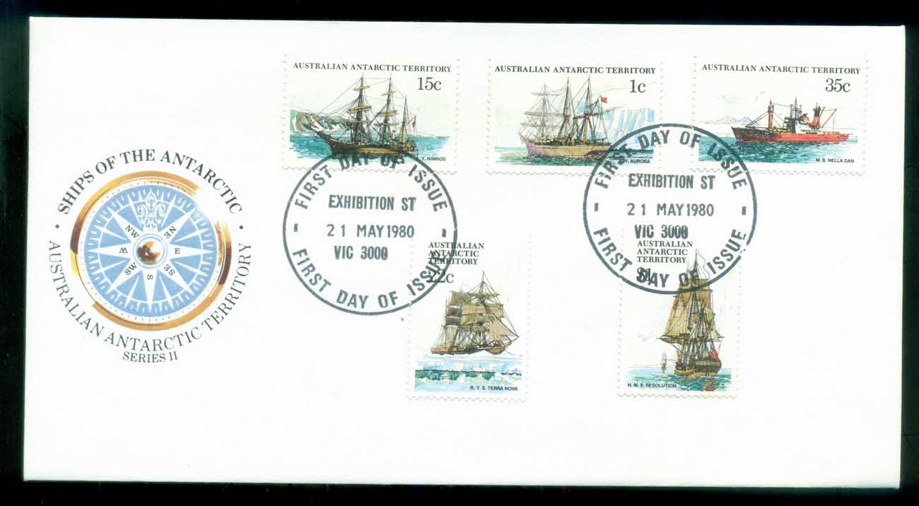 AAT 1980 Ships I, Exhibition St Vic FDC lot79716