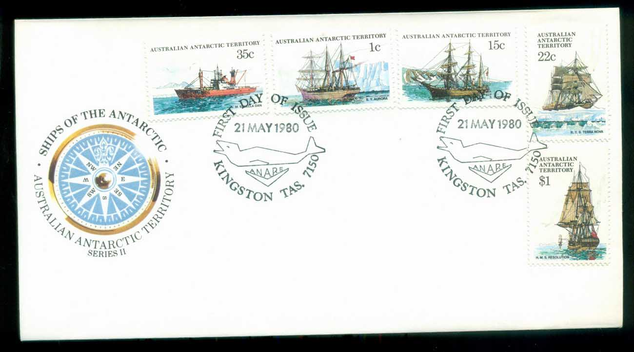 AAT 1980 Ships I, Kingston Tas FDC lot79717