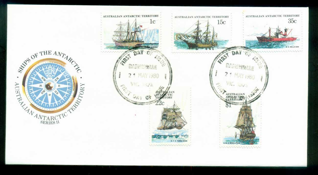 AAT 1980 Ships I, Bairnsdale Vic FDC lot79718