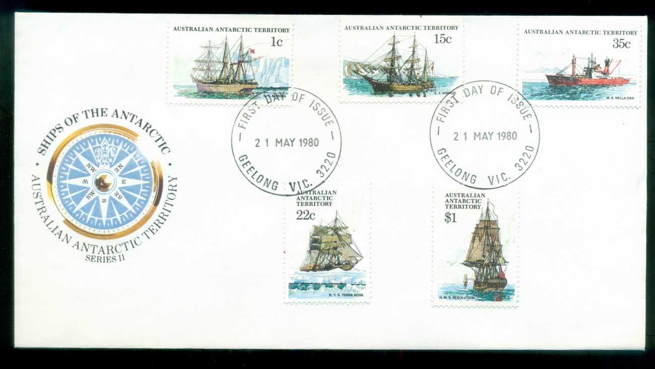 AAT 1980 Ships I, Geelong Vic FDC lot79720