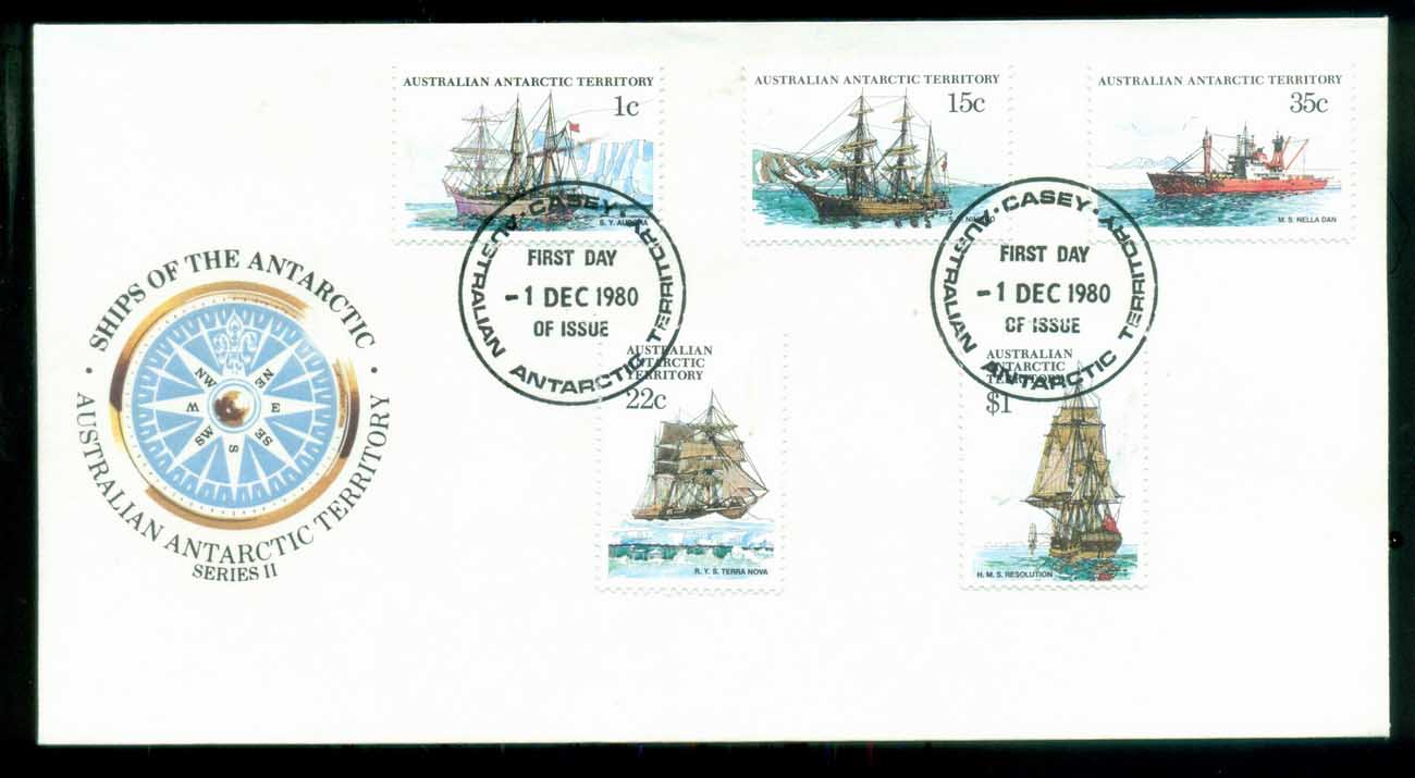 AAT 1980 Ships I, Casey FDC lot79721 - Click Image to Close