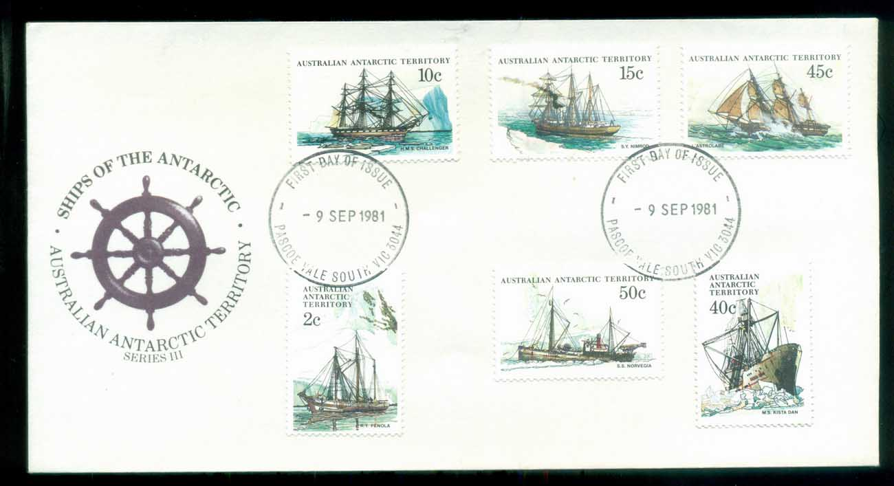 AAT 1981 Ships III (6), Pascoe Vale South Vic FDC lot79735