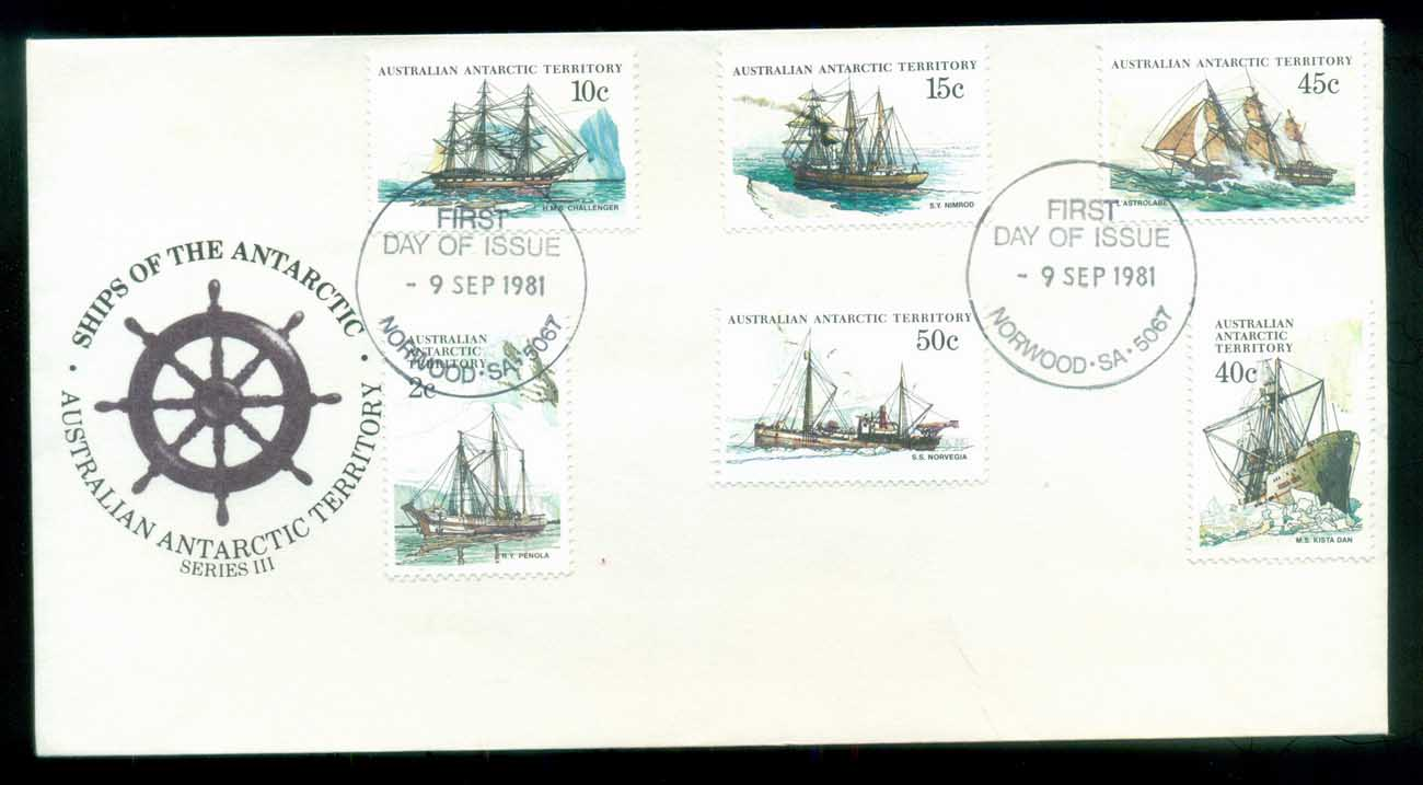 AAT 1981 Ships III (6), Norwood SA FDC lot79742