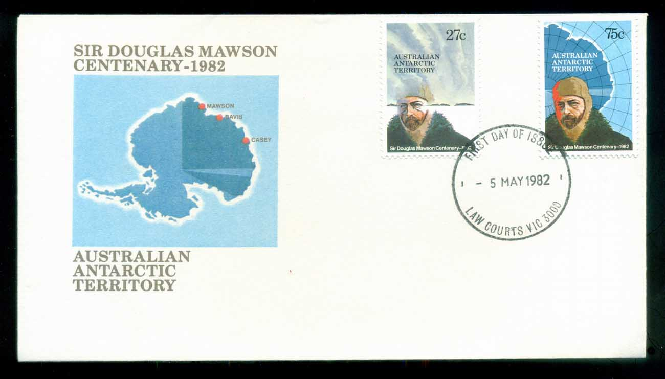 AAT 1982 Douglas Mawson, Law Courts Vic FDC lot79755