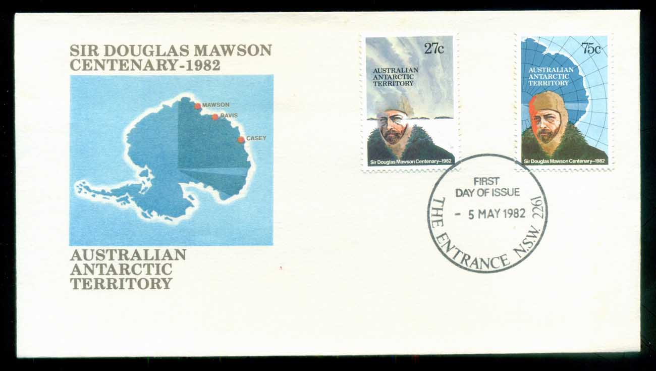 AAT 1982 Douglas Mawson, The Entrance NSW FDC lot79761