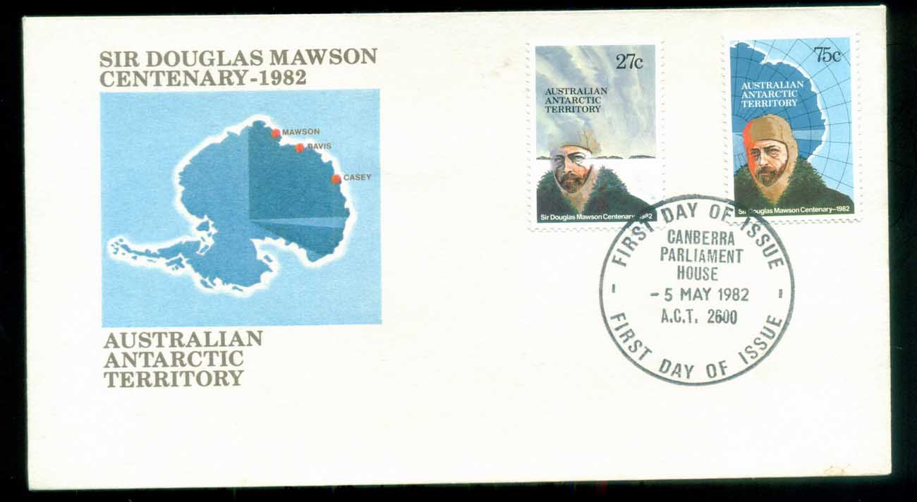 AAT 1982 Douglas Mawson, Canberra Parliament House FDC lot79766