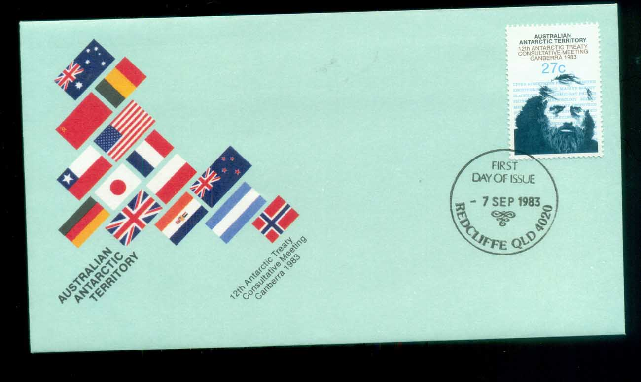 AAT 1983 Antarctic Treaty, Redcliffe Qld FDC lot79772