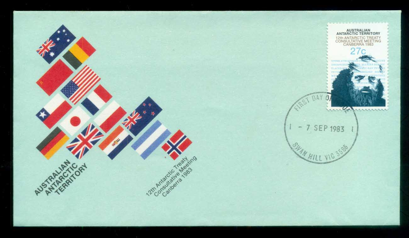 AAT 1983 Antarctic Treaty, Swan Hill Vic FDC lot79773