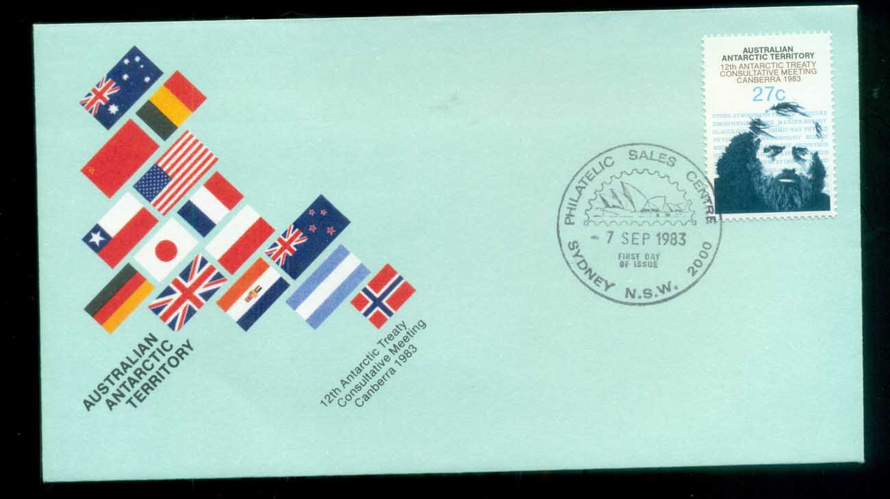 AAT 1983 Antarctic Treaty, Philatelic Sales Sydney FDC lot79774