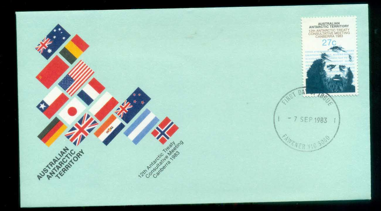 AAT 1983 Antarctic Treaty, Fawkner Vic FDC lot79778