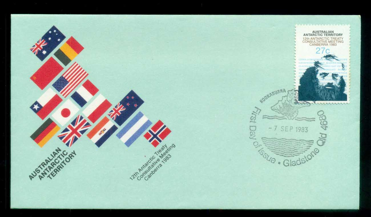AAT 1983 Antarctic Treaty, Gladstone Qld FDC lot79779