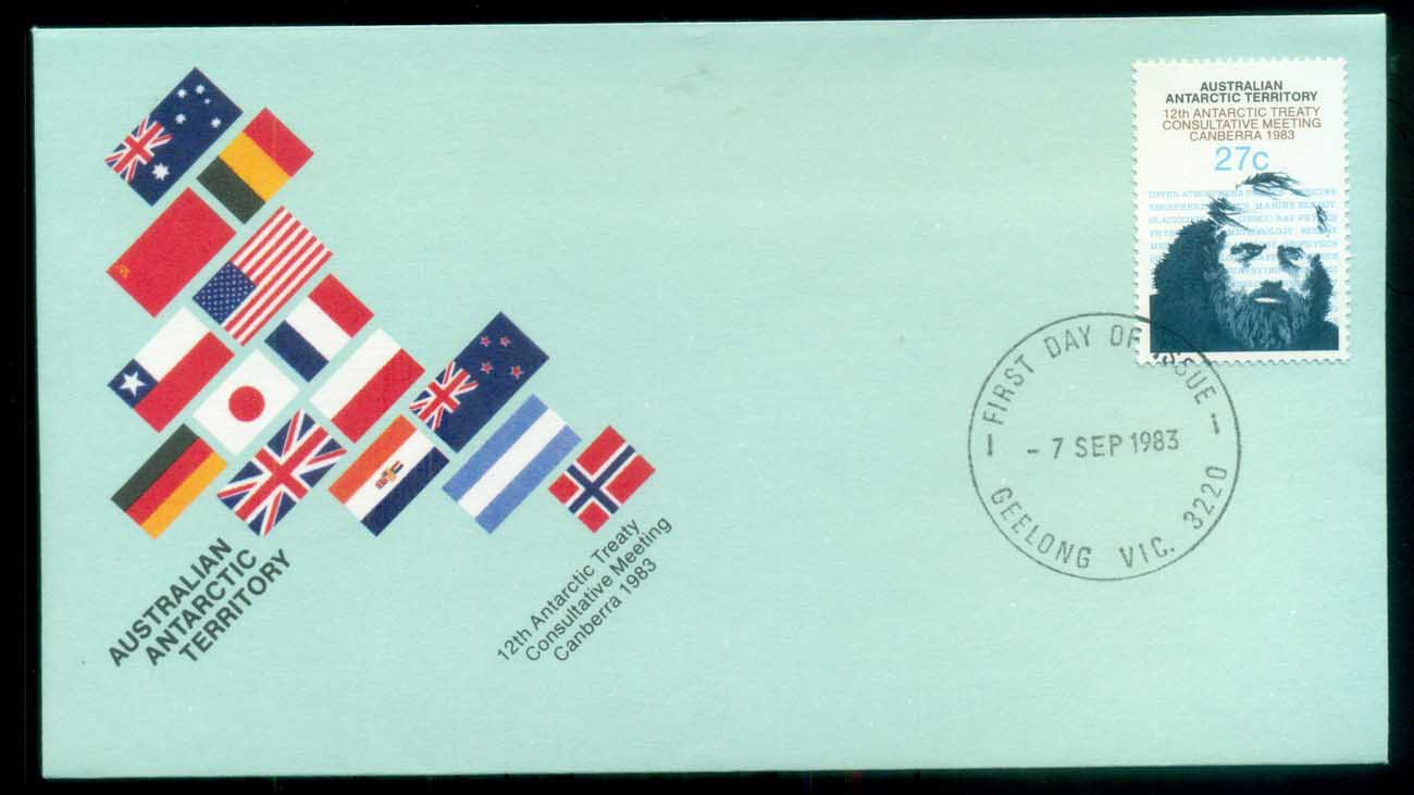 AAT 1983 Antarctic Treaty, Geelong Vic FDC lot79780