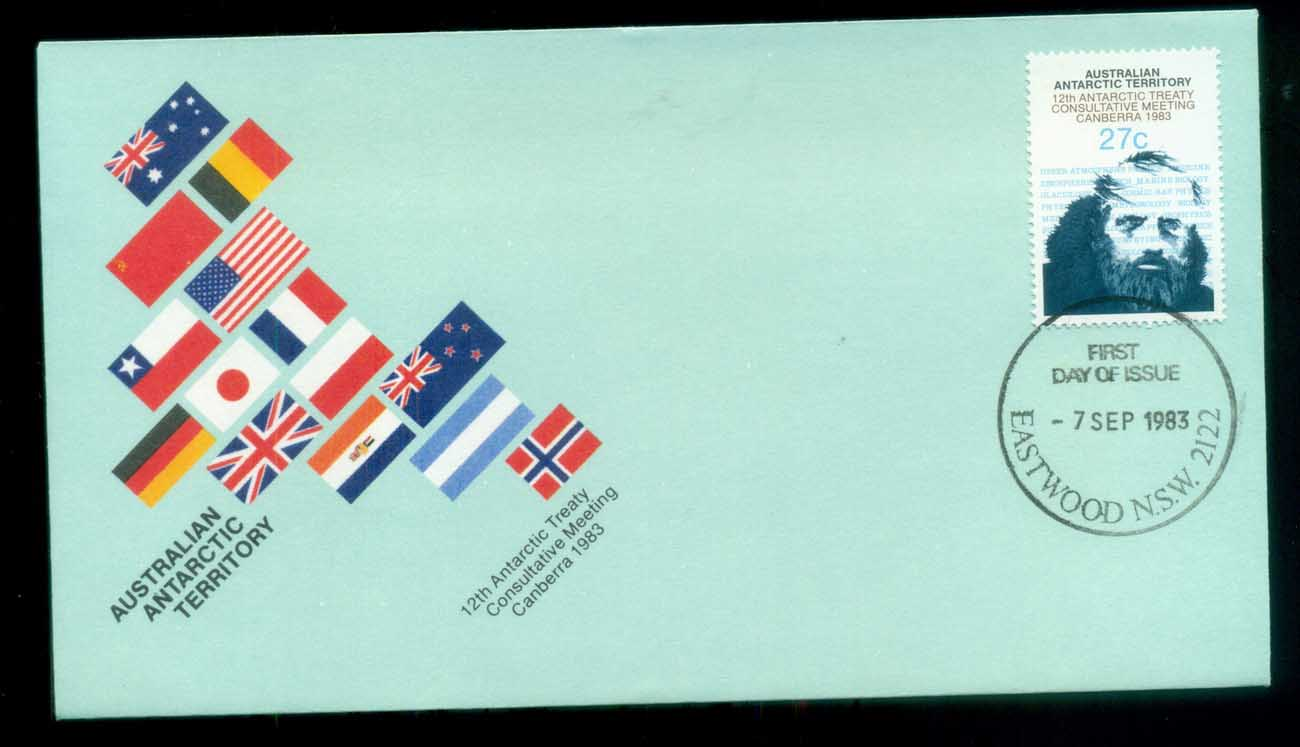 AAT 1983 Antarctic Treaty, Eastwood NSW FDC lot79784